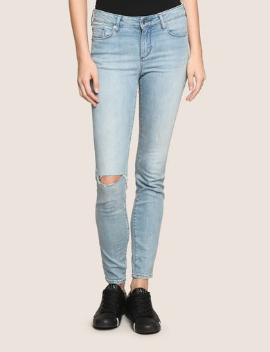 DESTROYED POWER-STRETCH SUPER-SKINNY JEANS