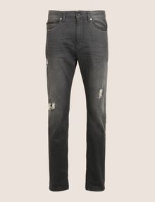 ARMANI EXCHANGE WORN THROUGH TAPERED FIT JEANS Tapered Jean [*** pickupInStoreShippingNotGuaranteed_info ***] r