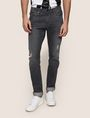 ARMANI EXCHANGE WORN THROUGH TAPERED FIT JEANS Tapered Jean Man f