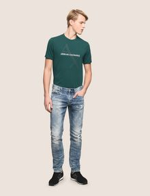 ARMANI EXCHANGE SLIM-FIT BLEACHED DISTRESSED JEANS SLIM FIT JEANS Man d