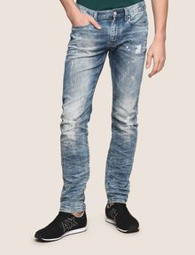 ARMANI EXCHANGE SLIM-FIT BLEACHED DISTRESSED JEANS SLIM FIT JEANS Man f