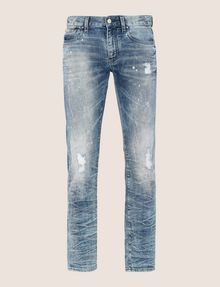 ARMANI EXCHANGE SLIM-FIT BLEACHED DISTRESSED JEANS SLIM FIT JEANS Man r