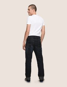 ARMANI EXCHANGE STRAIGHT-LEG CONTRAST STITCH JEANS STRAIGHT FIT JEANS [*** pickupInStoreShippingNotGuaranteed_info ***] e