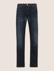 ARMANI EXCHANGE STRAIGHT-LEG CONTRAST STITCH JEANS STRAIGHT FIT JEANS [*** pickupInStoreShippingNotGuaranteed_info ***] r