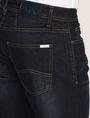 ARMANI EXCHANGE STRAIGHT-LEG CONTRAST STITCH JEANS STRAIGHT FIT JEANS [*** pickupInStoreShippingNotGuaranteed_info ***] b