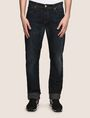 ARMANI EXCHANGE STRAIGHT-LEG CONTRAST STITCH JEANS STRAIGHT FIT JEANS [*** pickupInStoreShippingNotGuaranteed_info ***] f