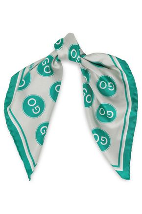 ANYA HINDMARCH プリント シルクツイル スカーフ