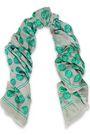 ANYA HINDMARCH Printed twill scarf