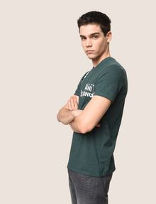 ARMANI EXCHANGE RANSOM STAMP LOGO CREW Logo T-shirt Man a