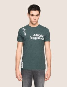 ARMANI EXCHANGE RANSOM STAMP LOGO CREW Logo T-shirt Man f