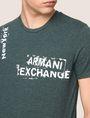 ARMANI EXCHANGE RANSOM STAMP LOGO CREW Logo T-shirt Man b