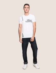 ARMANI EXCHANGE RANSOM STAMP LOGO CREW Logo T-shirt Man d