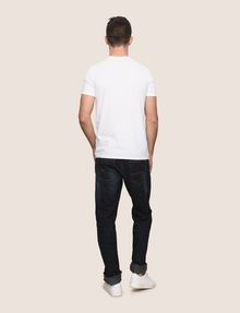 ARMANI EXCHANGE RANSOM STAMP LOGO CREW Logo T-shirt Man e
