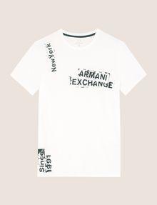 ARMANI EXCHANGE RANSOM STAMP LOGO CREW Logo T-shirt Man r