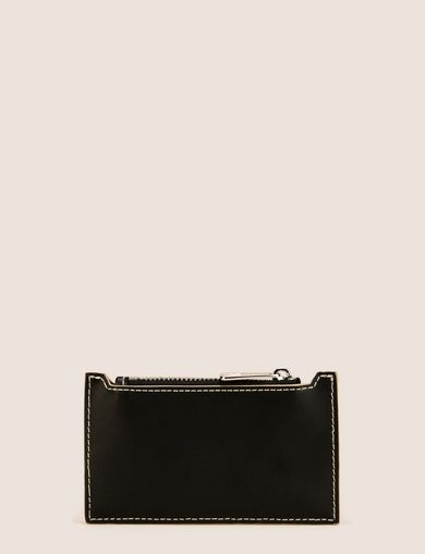 TOP-ZIP FAUX-LEATHER CARDCASE