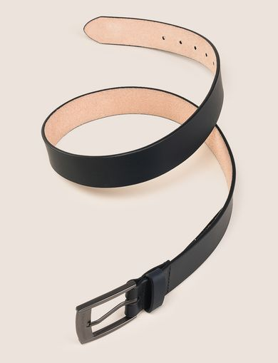 SLEEK MINIMAL LOGO BUCKLE BELT