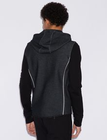 ARMANI EXCHANGE CLASSIC BICOLOR LOGO HOODIE Sweatshirt [*** pickupInStoreShippingNotGuaranteed_info ***] e
