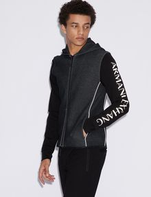 ARMANI EXCHANGE CLASSIC BICOLOR LOGO HOODIE Sweatshirt [*** pickupInStoreShippingNotGuaranteed_info ***] f