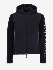 ARMANI EXCHANGE CLASSIC BICOLOR LOGO HOODIE Sweatshirt [*** pickupInStoreShippingNotGuaranteed_info ***] r