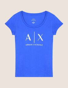 ARMANI EXCHANGE CLASSIC LOGO SCOOPNECK Logo T-shirt Woman r