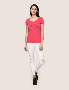 ARMANI EXCHANGE CLASSIC LOGO SCOOPNECK Logo T-shirt Woman d