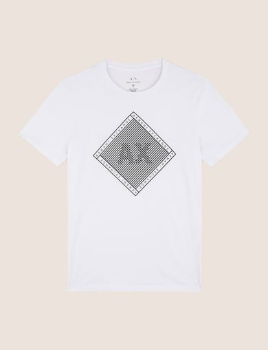 OPTICAL ILLUSION DIAMOND LOGO TEE