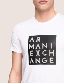 ARMANI EXCHANGE LINEAR TYPE LOGO TEE Logo T-shirt Man b