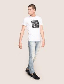 ARMANI EXCHANGE LINEAR TYPE LOGO TEE Logo T-shirt Man d