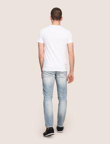 ARMANI EXCHANGE LINEAR TYPE LOGO TEE Logo T-shirt Man e