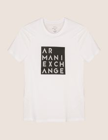 ARMANI EXCHANGE LINEAR TYPE LOGO TEE Logo T-shirt Man r