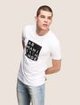 ARMANI EXCHANGE LINEAR TYPE LOGO TEE Logo T-shirt Man a