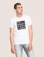 ARMANI EXCHANGE LINEAR TYPE LOGO TEE Logo T-shirt Man f
