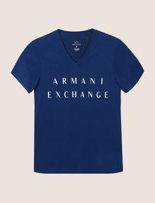 ARMANI EXCHANGE CLASSIC MINIMAL LOGO V-NECK Logo T-shirt Man r