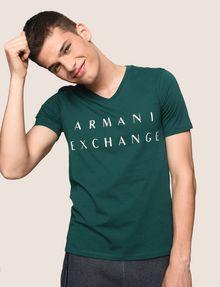 ARMANI EXCHANGE CLASSIC MINIMAL LOGO V-NECK Logo T-shirt Man a