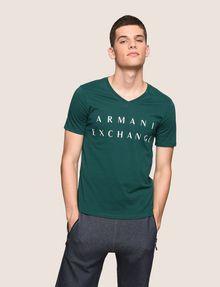 ARMANI EXCHANGE CLASSIC MINIMAL LOGO V-NECK Logo T-shirt Man f