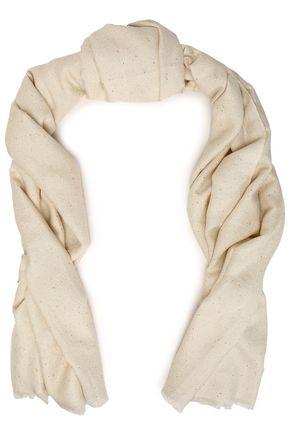 BRUNELLO CUCINELLI Frayed sequined silk-blend scarf
