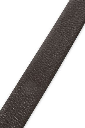 BRUNELLO CUCINELLI Textured-leather belt