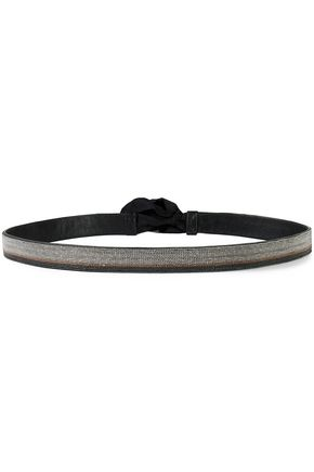 BRUNELLO CUCINELLI Beaded leather belt