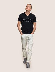 ARMANI EXCHANGE CLASSIC MINIMAL LOGO V-NECK Logo T-shirt Man d