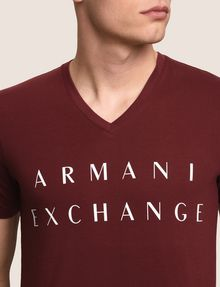 ARMANI EXCHANGE CLASSIC MINIMAL LOGO V-NECK Logo T-shirt Man b