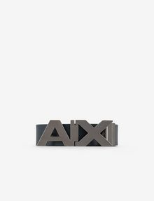 ARMANI EXCHANGE REVERSIBLE BOLD LOGO SKINNY BELT Belt Man f