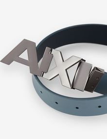 ARMANI EXCHANGE REVERSIBLE BOLD LOGO SKINNY BELT Belt Man r