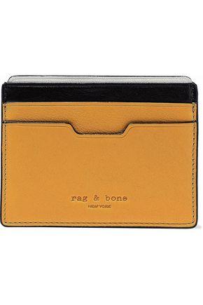 RAG & BONE Color-block leather cardholder