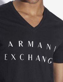ARMANI EXCHANGE CLASSIC MINIMAL LOGO V-NECK Logo T-shirt [*** pickupInStoreShippingNotGuaranteed_info ***] b