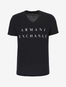ARMANI EXCHANGE CLASSIC MINIMAL LOGO V-NECK Logo T-shirt [*** pickupInStoreShippingNotGuaranteed_info ***] r