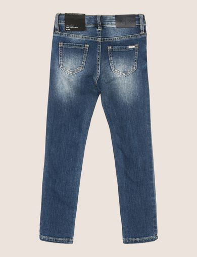 GIRLS CLASSIC WASHED SUPER-SKINNY JEANS