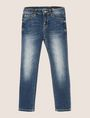 ARMANI EXCHANGE GIRLS CLASSIC WASHED SUPER-SKINNY JEANS Skinny jeans Woman f