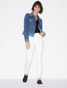 ARMANI EXCHANGE CLASSIC WHITE SUPER-SKINNY JEAN Skinny jeans Woman d