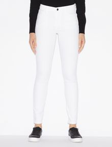 ARMANI EXCHANGE CLASSIC WHITE SUPER-SKINNY JEAN Skinny jeans Woman f