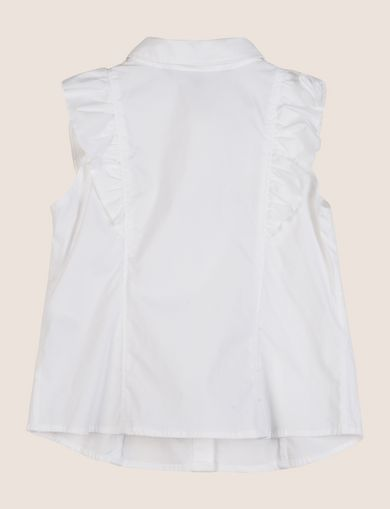 GIRLS RUFFLED SLEEVELESS SHIRT
